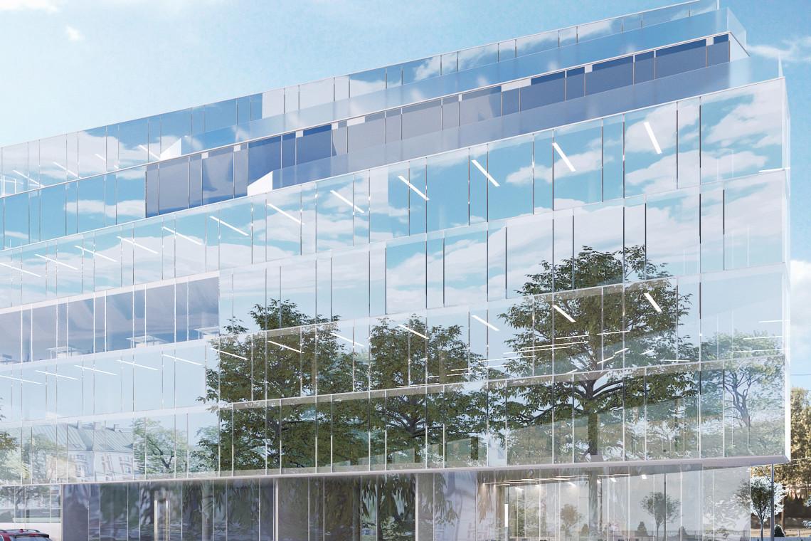 Lustrzana fasada niczym dziedziniec Luwru. Tak może wyglądać hotel przy ul. Zielonej w Poznaniu