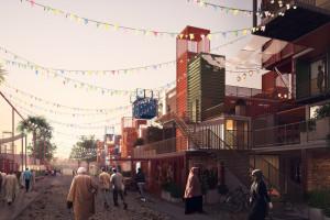 Kontenerowe miasto zamiast slumsów na cmentarzu? Oto niesamowity projekt Mouaz Abouzaid