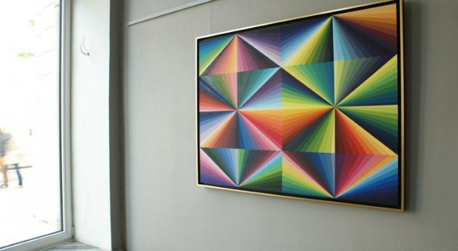 Nietypowa lekcja geometrii, czyli wernisaż Małgorzaty Jastrzębskiej na Wilczej 44