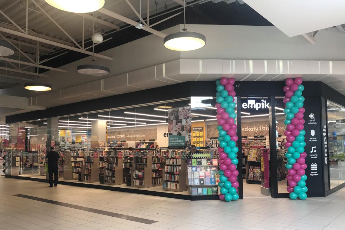 Naszpikowany technologią salon Empik w CH Auchan Bydgoszcz