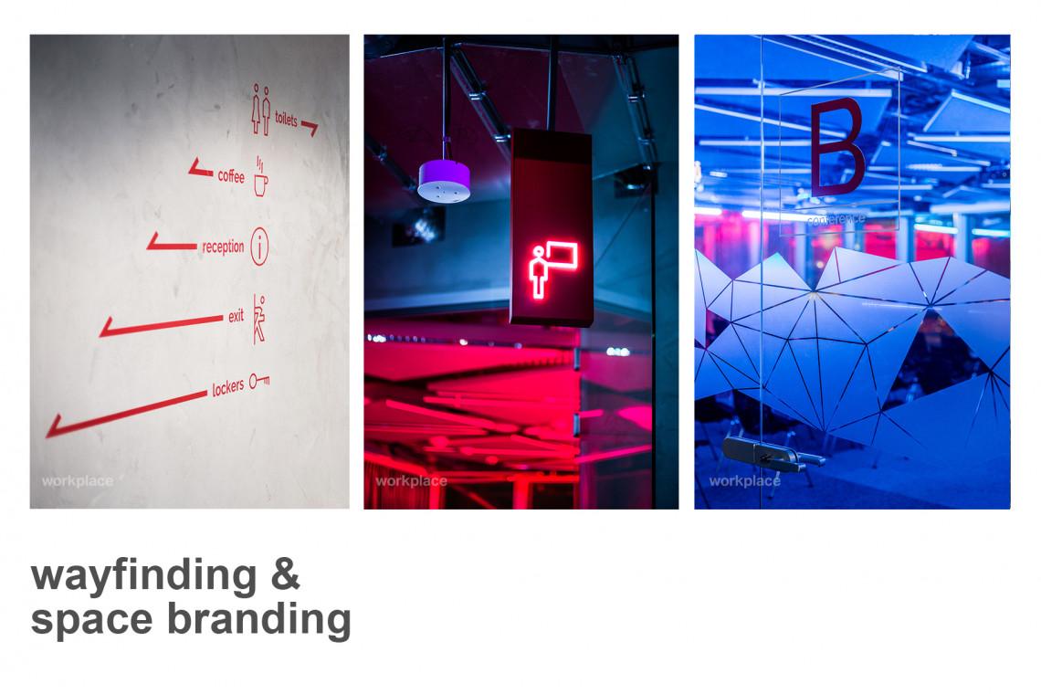 Jak odnaleźć się w miejscu pracy? Wayfinding i space branding według pracowni Workplace