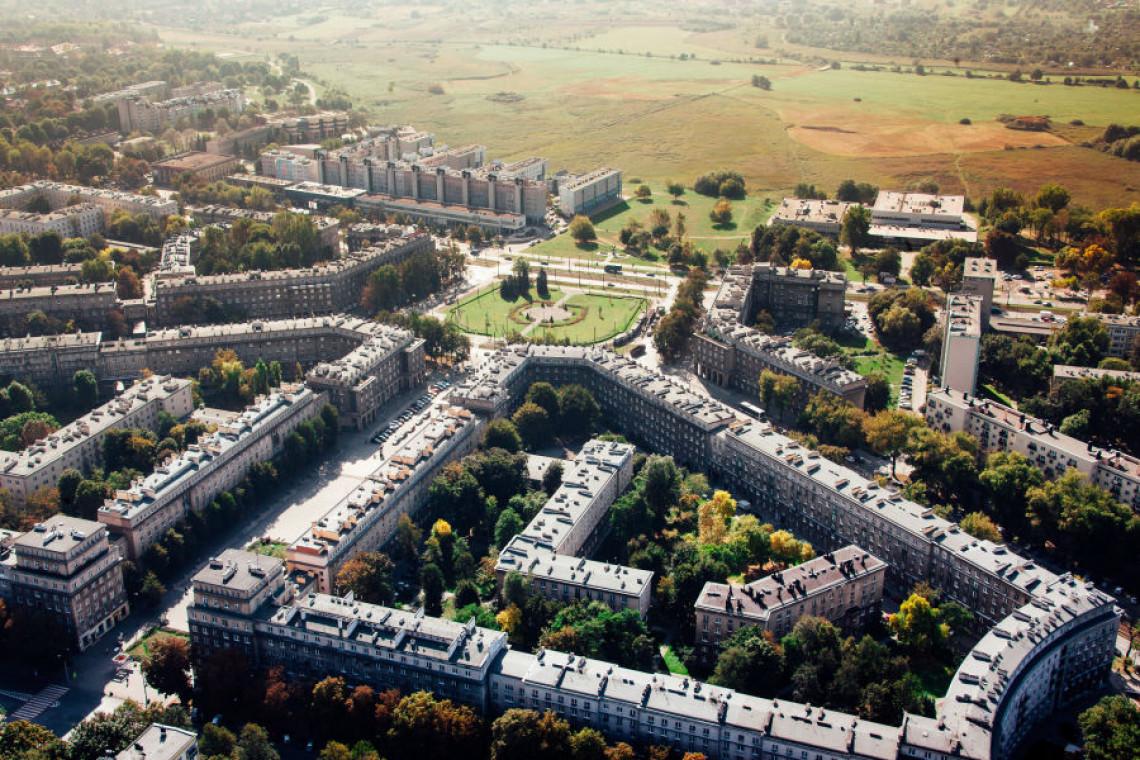 Architektura współczesna przy Łąkach Nowohuckich