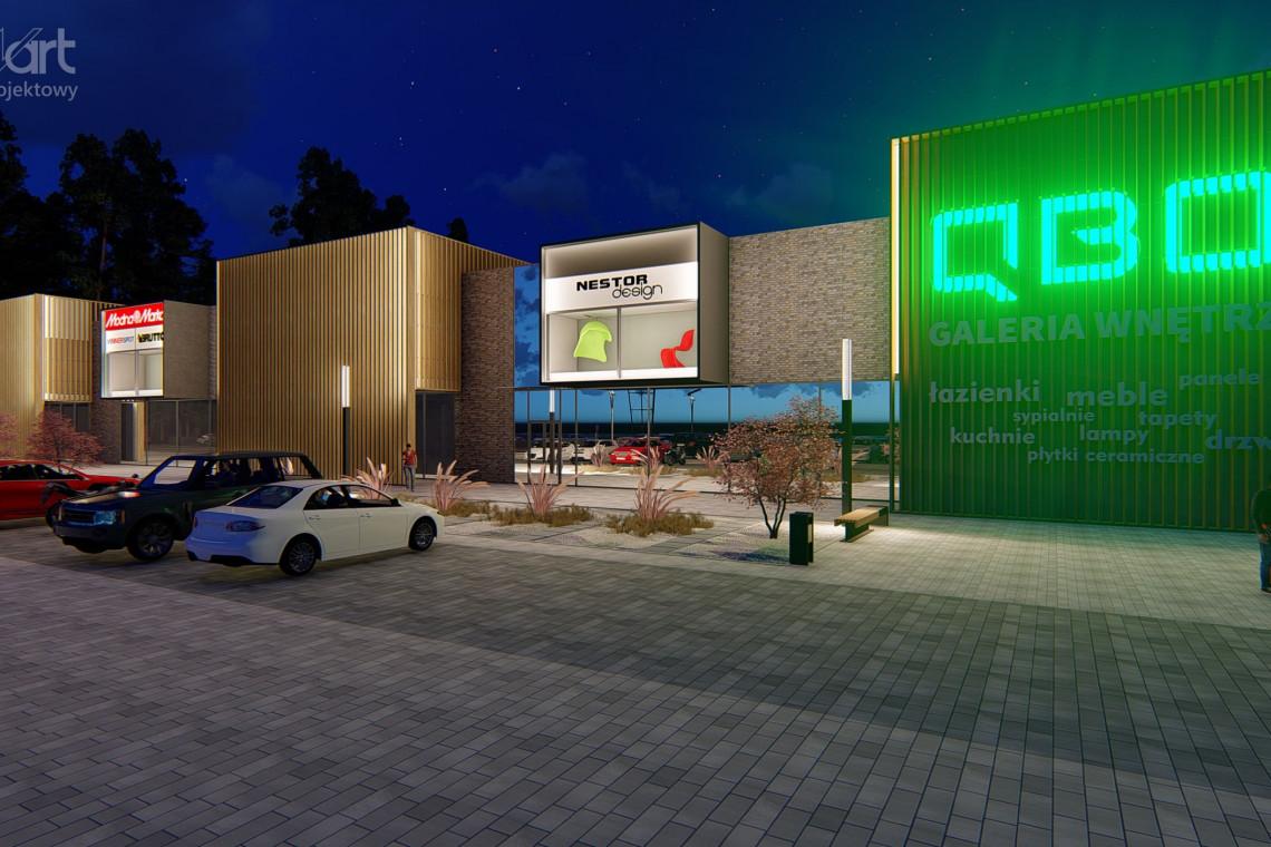 QBO - nowoczesna galeria wnętrz z parkiem handlowym powstaje w Stalowej Woli