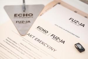 Medusa Group dla Echo Investment. Fuzja - nowy, przyciągający ludzi fragment Łodzi już z kamieniem