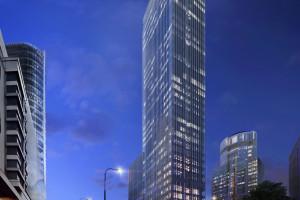 Oto 155-metrowy wieżowiec Skysawa, który stanie w centrum Warszawy