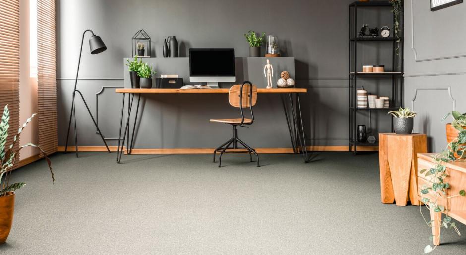 Płytki dywanowe idealne do biura. Mają modne kolory i są