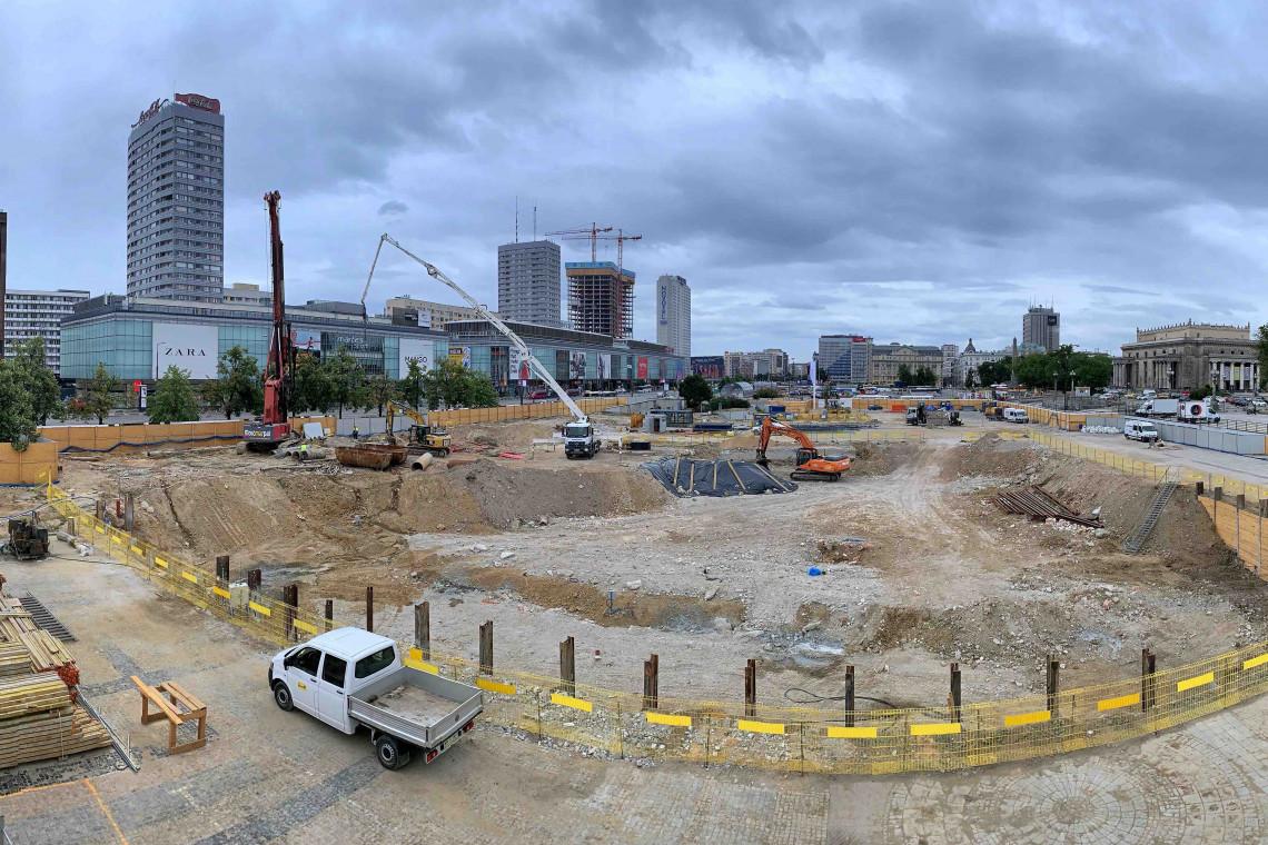 Konkurs na koncepcję punktu widokowego na placu budowy MSN w Warszawie
