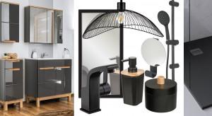 Trendy w projektowaniu łazienek? Powrót matowej i błyszczącej czerni