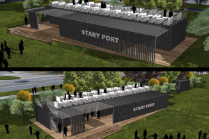 Nad Wartą w Poznaniu powstaje przystań jachtowa w formie konteneru