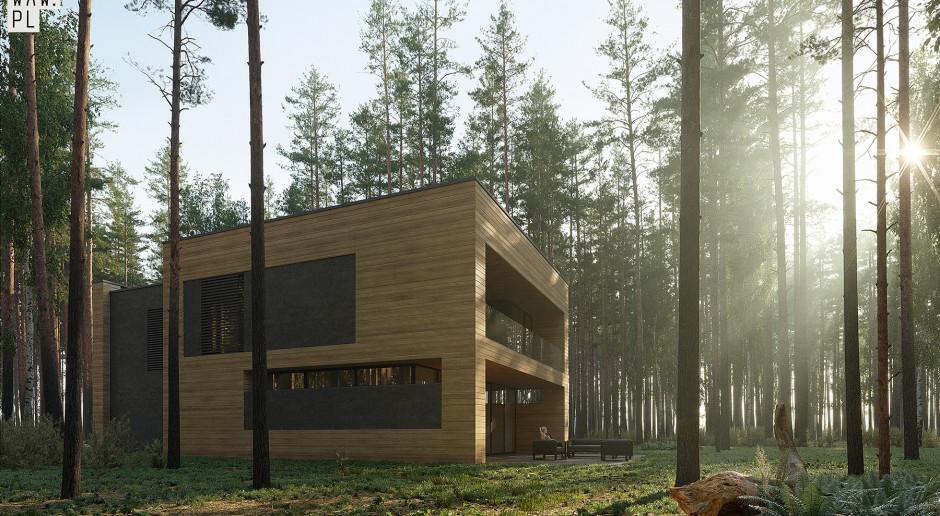 Minimalistyczny projekt ukryty w lesie. Architekci z pracowni 81.waw.pl znów zaskakują
