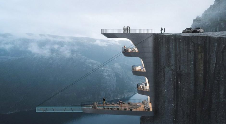 Hotel na klifie i basen nad przepaścią. Oto niezwykły projekt Hayri Atak