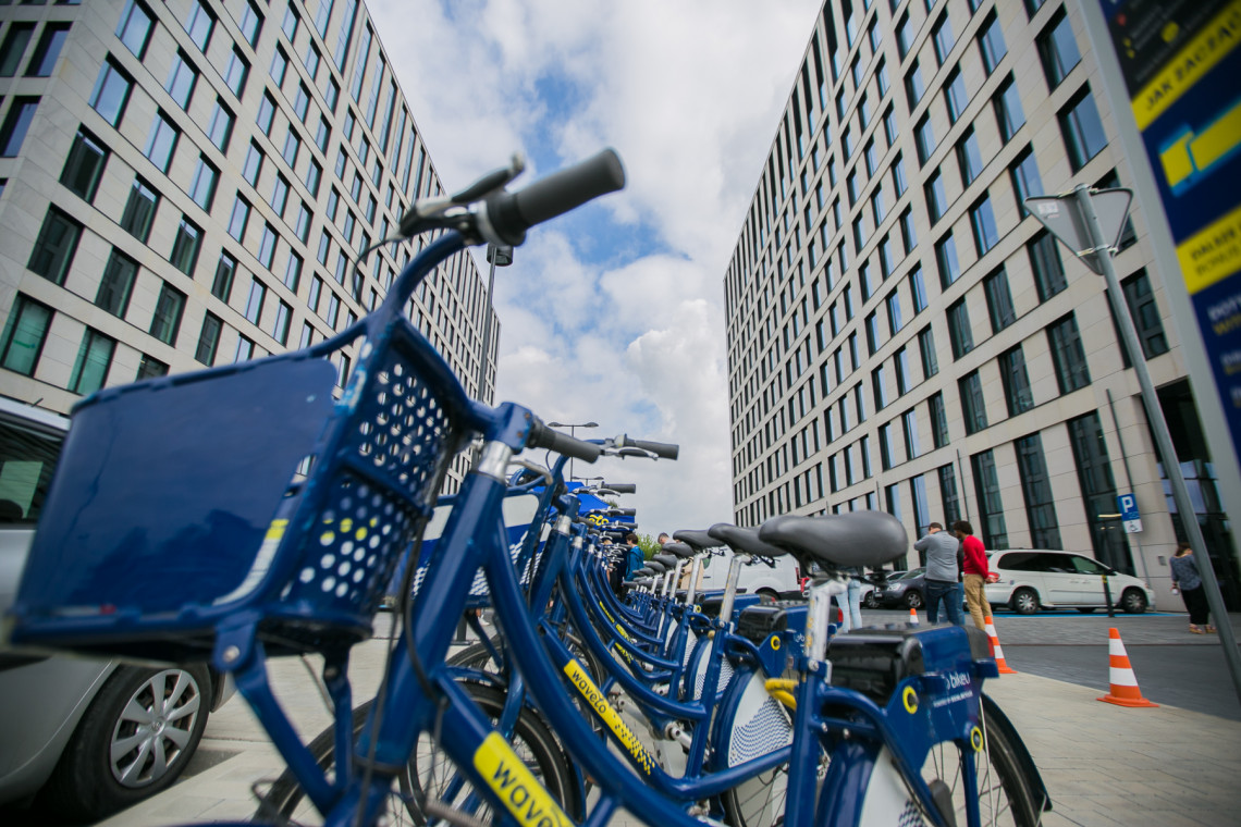 O3 Business Campus ze stacją rowerów Wavelo