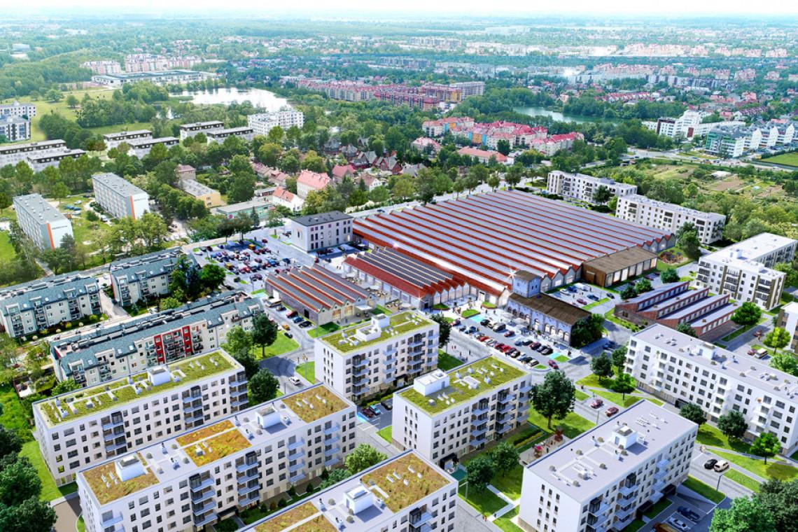 Nowe centrum handlowe we Wrocławiu. Projekt powstaje w miejscu starej fabryki