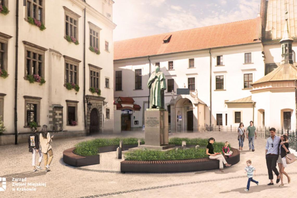 Kraków stawia na zielone inwestycje. Pomnik prezydenta Dietla... rozkwitnie