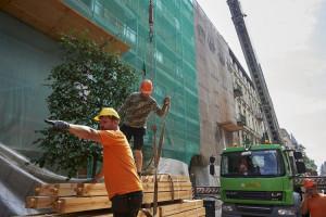 Nowy dach na przyszłym budynku biblioteki w Łodzi