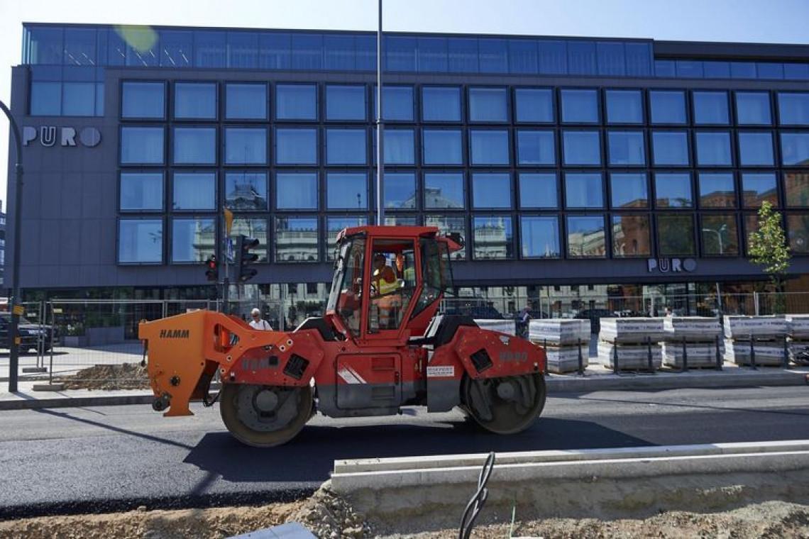 Przebudowa ulicy Ogrodowej w Łodzi na półmetku