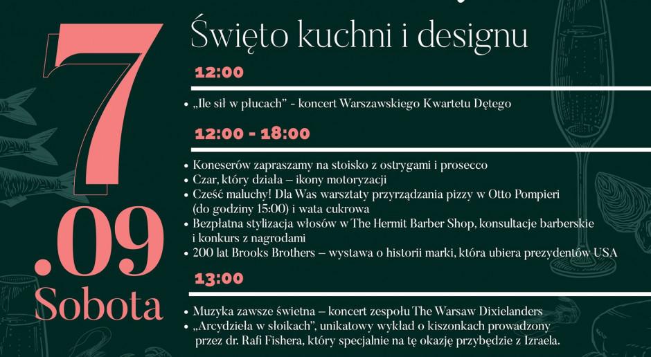 Święto kuchni i designu na Placu Bankowym 1 w Warszawie