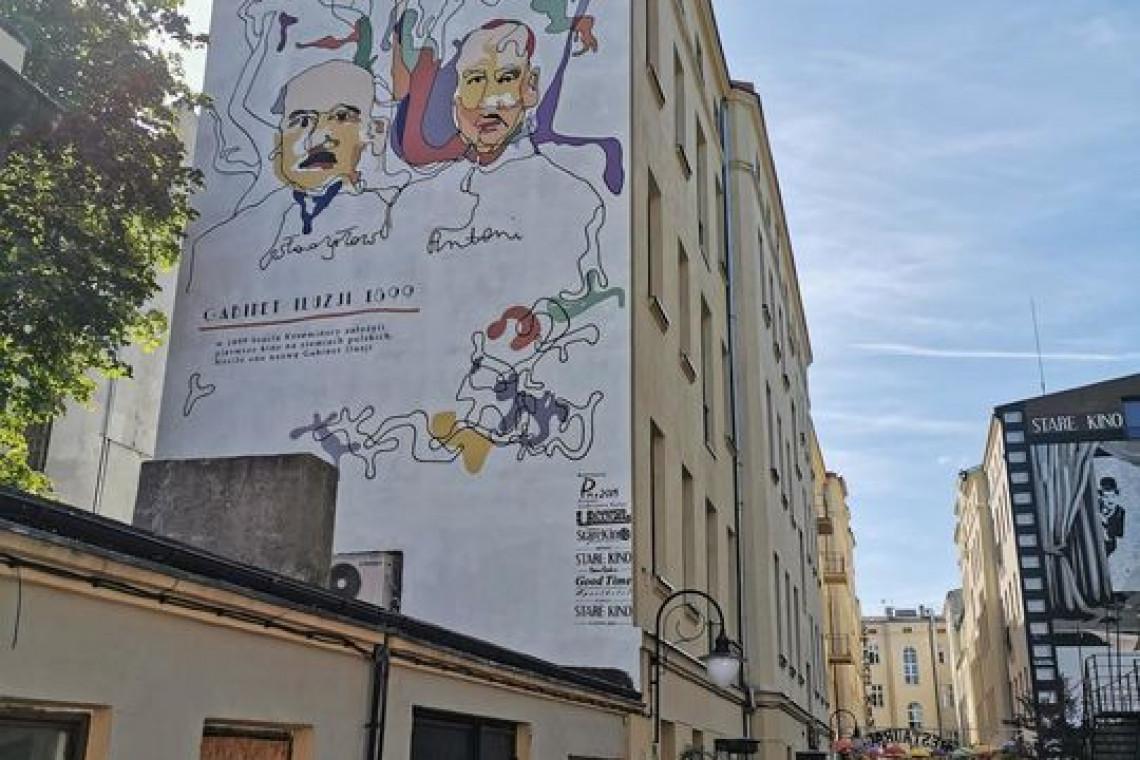 Filmowy mural w centrum Łodzi