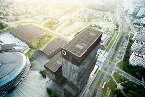 Przy Spodku rusza budowa najwyższego biurowca w Katowicach. To projekt Medusa Group