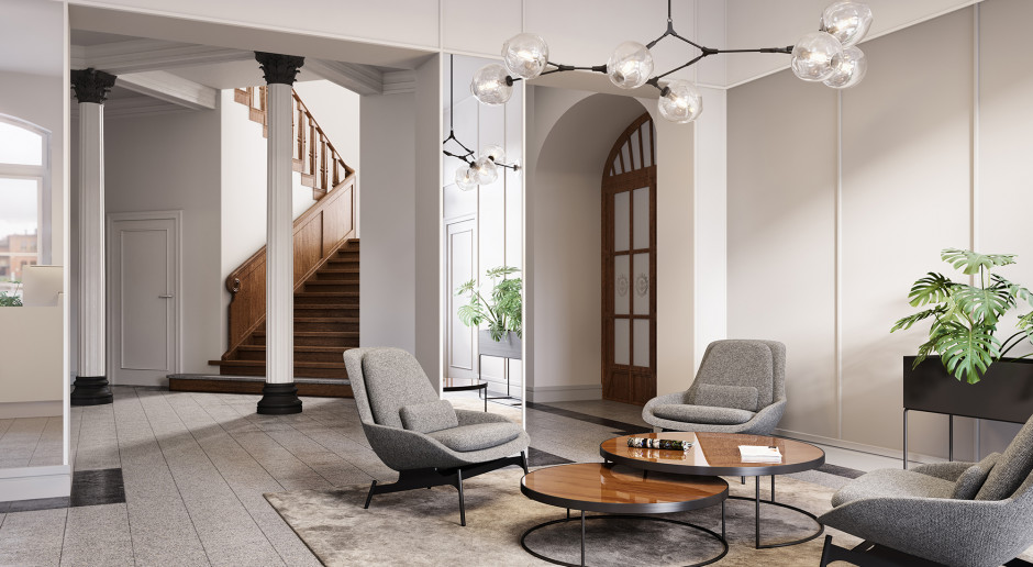 Roark Studio: Aranżację współczesnego lobby można porównać do