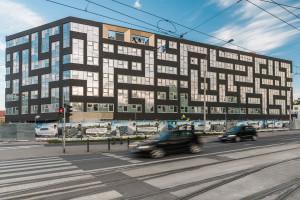 Elewacja jak klocki Tetris. Architekci z AP Szczepaniak postawili na szkło i płytki elewacyjne