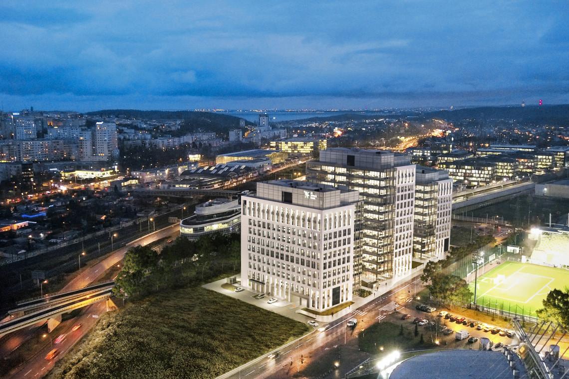 3T Office Park w Gdyni z wiechą