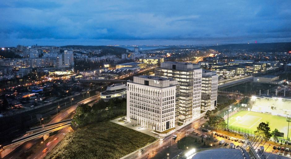 Powstaje jeden z największych biurowców w Trójmieście! 3T Office Park szkicu AHR Architects już z kamieniem