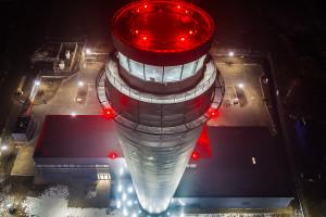 Najwyższa wieża ruchu lotniczego oddana do użytku