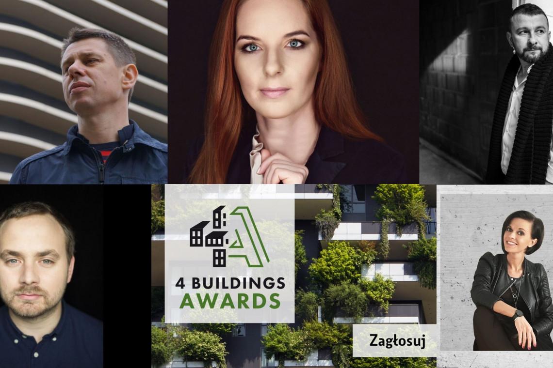 """Oto wielka """"piątka"""" architektów nominowanych w konkursie 4 Buildings Awards 2019"""