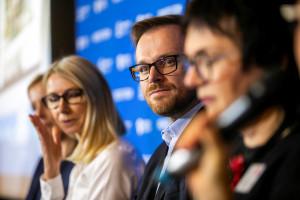 """PF Łódź: Prelegenci podczas sesji """" Ziemia odzyskana – jak wyremontować miasto? Przepis na rewitalizację i miastotwórczy mixed-use"""""""