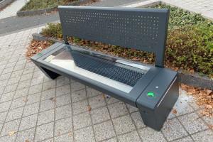 Pierwsza ławka solarna w Tychach