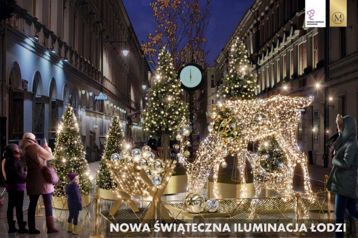 Leśna Przygoda w sercu wielkiego miasta, czyli świąteczna iluminacja Łodzi w nowej odsłonie