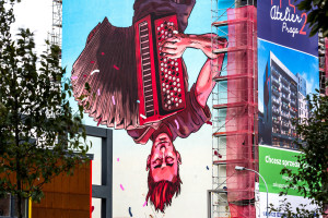 Nowy mural na warszawskiej Pradze
