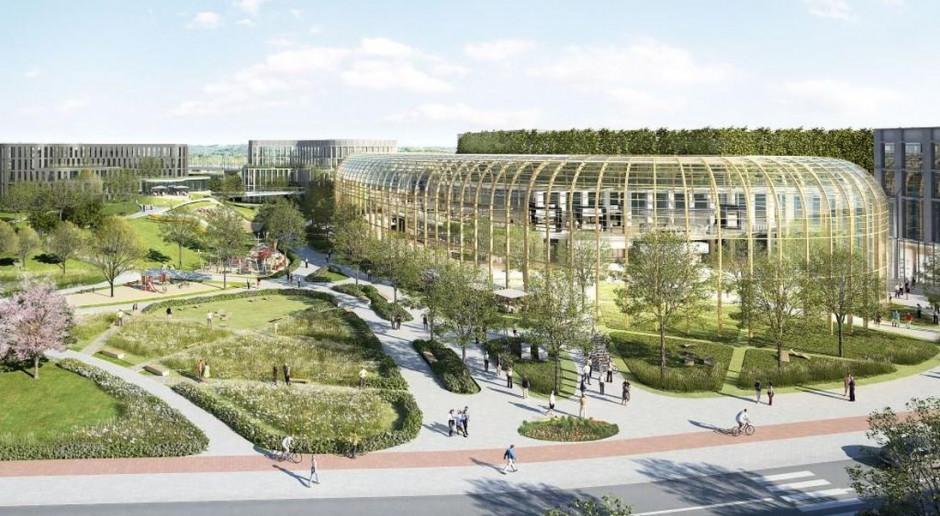 Wilanów Park: pełna zieleni przyjazna przestrzeń typu mixed-use