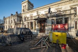 Trwa remont Pałacu Scheiblera w Łodzi