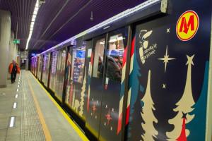 Świąteczne metro rusza na trasę