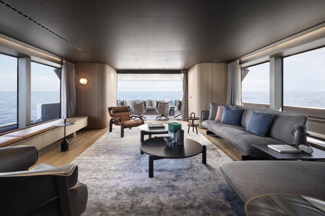 Patricia Urquiola zaprojektowała wnętrza luksusowego jachtu