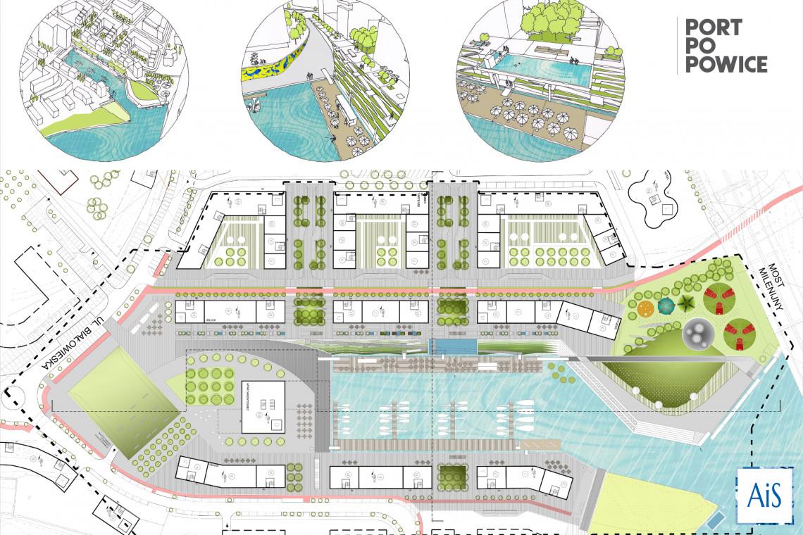 Teren wokół Portu Popowice nowym centrum rekreacji we Wrocławiu. Poznaliśmy zwycięską koncepcję