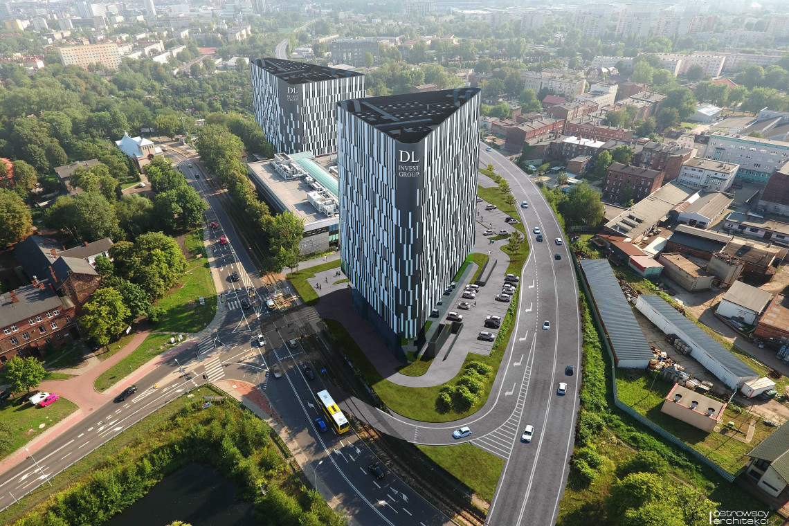 W centrum Katowic rośnie nowy wieżowiec. Ruszyły prace budowlane