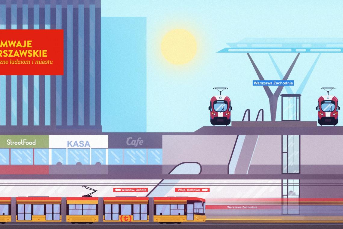 Tramwaje Warszawskie z pierwszą umową na tramwaj z Dworca Zachodniego do Grójeckiej