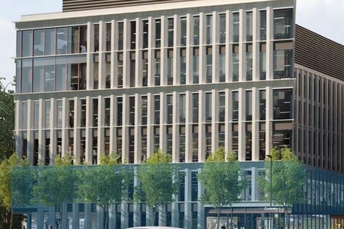 Klimatyczny kampus Uniwersytetu Coventry w nowoczesnym biurowcu
