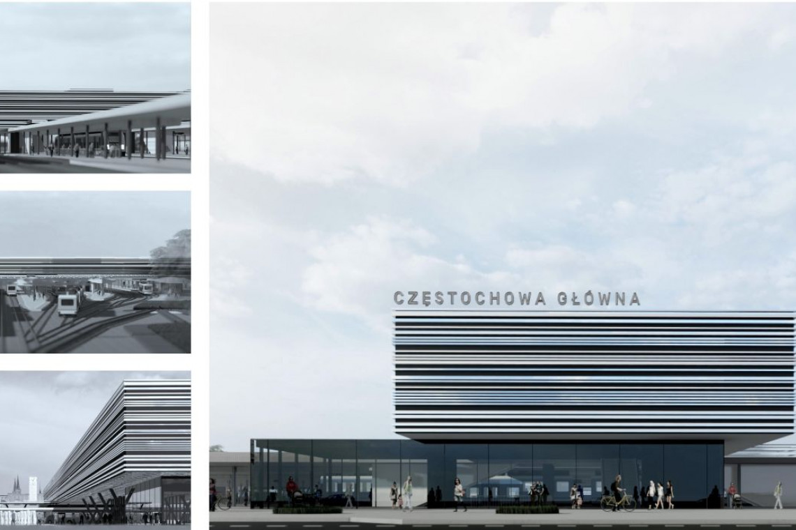 Zbliża się przebudowa dworca Częstochowa Główna. Tak będzie wyglądać!