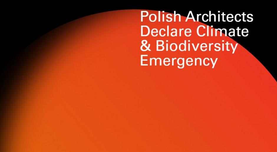 Polscy architekci dołączyli do międzynarodowej kampanii #Architectsdeclare