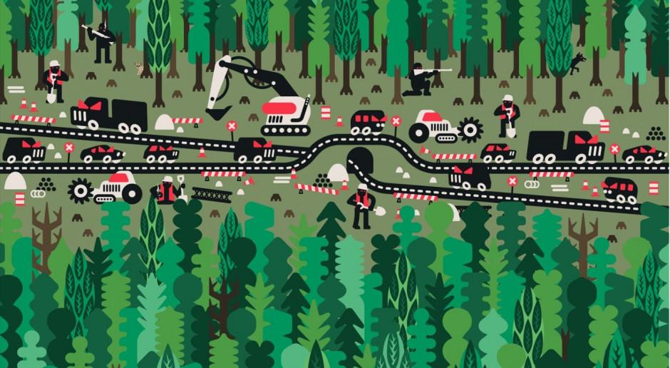 Plakacista Jan Kallwejt dla Fundacji WWF Polska