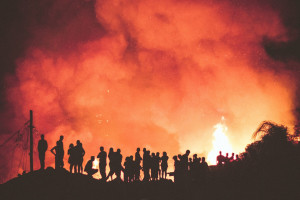 Płonęły zabytkowe Familoki