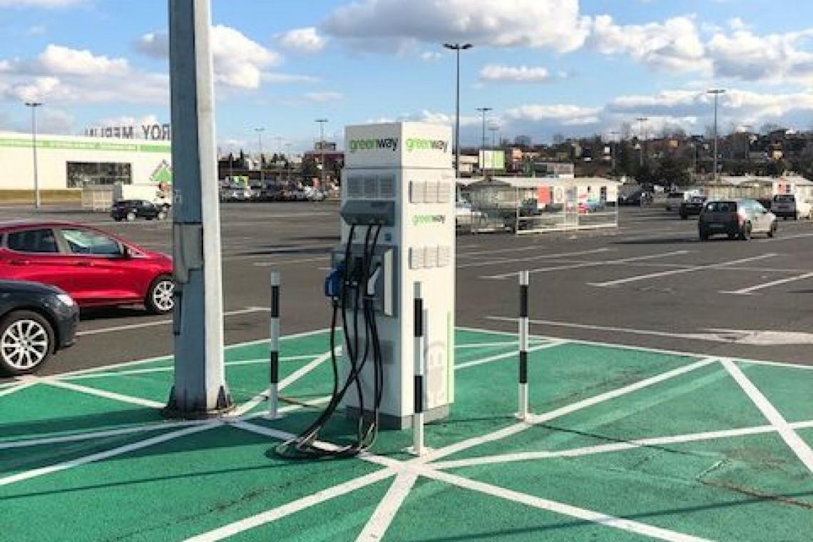 Kolejne CH Auchan z ładowarką samochodów elektrycznych