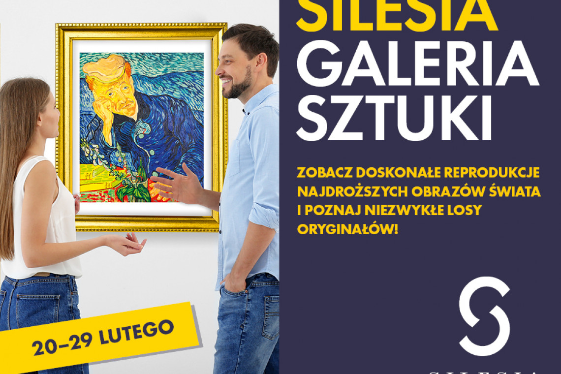 Wystawa reprodukcji najdroższych obrazów świata w centrum handlowym