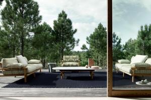 Wypoczynek na zewnątrz. Meble outdoorowe wg. Antonio Citterio, Philipe'a Starcka i Naoto Fukasawy