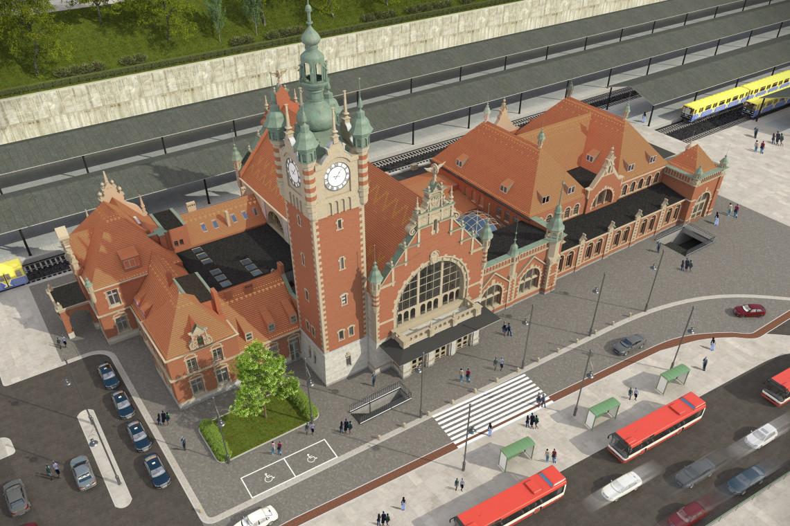Trwa przebudowa dworca Gdańsk Główny. Dla podróżnych przygotowano dworzec tymczasowy