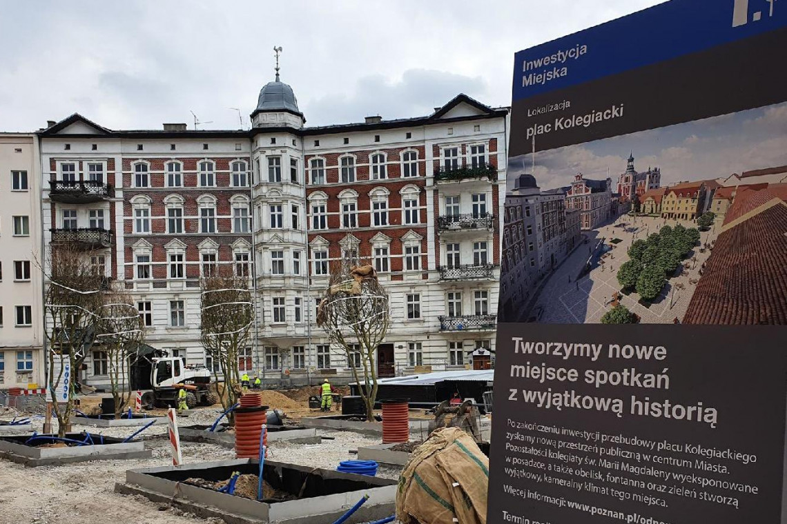 Plac Kolegiacki w Poznaniu przechodzi metamorfozę